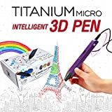 3D Pen for Kids (Purple), USB 3D Printing Pen Doodle and Drawing 3D Model Compatible with PLA/ABS + 3 Filaments