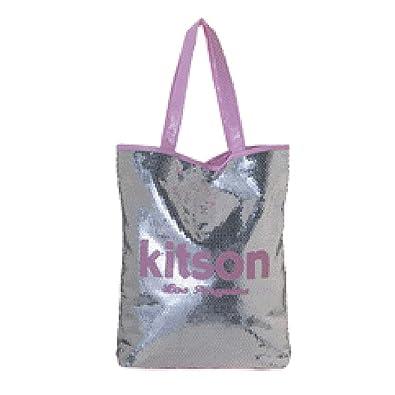 b70f0e54a650 Amazon | キットソン Kitson スパンコール トートバッグ sequin summer シルバー×ピンク | トートバッグ