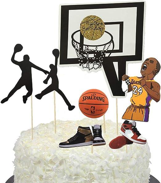 BBGparty - Decoración para tarta de baloncesto para cumpleaños de ...