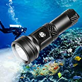 VOLADOR Scuba Diving Flashlight, DF40 4000 Lumen