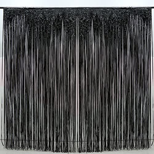 Amazon.com: 2 cortinas metálicas con flecos de papel de ...