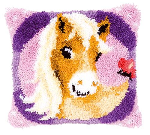 Vervaco PN-0145655 Knüpfkissen Mein süߝes Pony