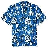 Reyn Spooner Men's Los Angeles Dodgers MLB Classic Fit Hawaiian Shirt, Nane'a - Blue, XS