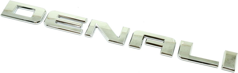 Chrome 1 Pc DENALI Emblem Nameplate Badge Nameplate Replacement for Yukon Terrain Sierra GM 2007-2016