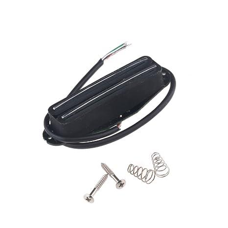Musiclily Humbucker en Formato de Bobina Simple Pastilla Hot Rails para Guitarras Eléctricas Estilo ST,