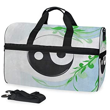 738033d71e4c9f Image Unavailable. Image not available for. Color: Chinese Yin Yang Gym Bag  with Shoes Compartment Sports ...