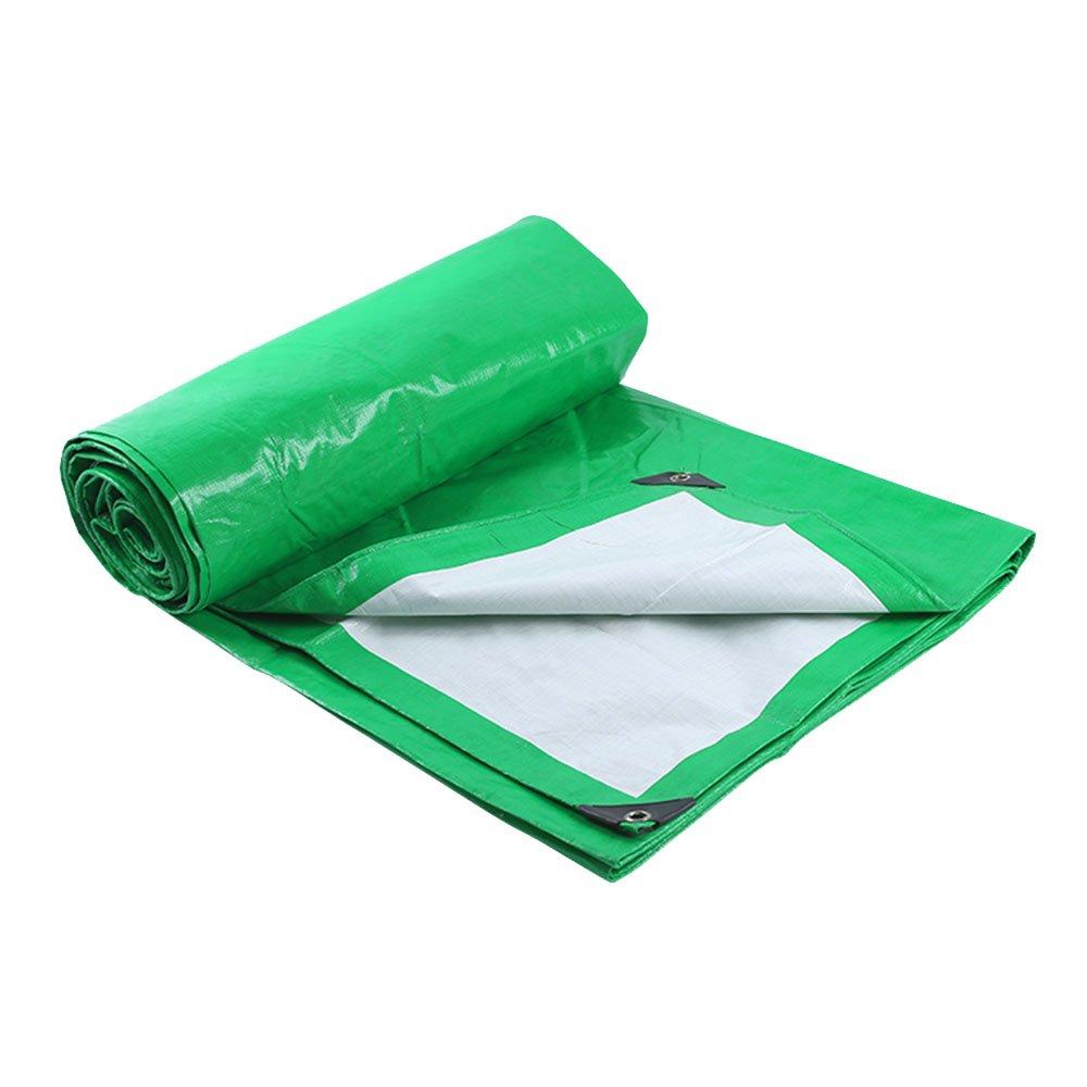 Tarpaulin HUO Wasserdichte Tarp Tarp Tarp Für Camping Angeln Gartenarbeit & Haustiere, Multi-Purpose Anti-UV-Tear-Proof, Grün  Weiß (Farbe   GrünWeiß, größe   10  14m) B07DRDNXRL Zeltplanen Niedrige Kosten 7248fb
