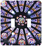 3dRose lsp_137008_2 Window In Notre Dame Cathedral, Paris, France Eu09 Wsu0027 William Sutton Double Toggle Switch