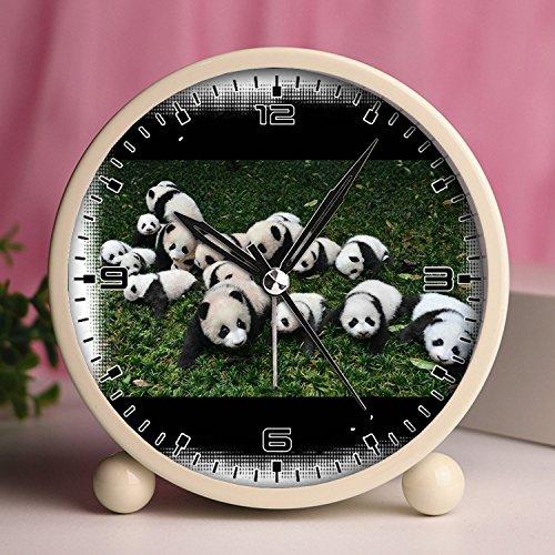 Price comparison product image Alarm Clock,  Retro Portable Clocks with Nightlight Custom designs -cute and funny panda 336.Cute panda