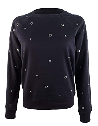 2556a423ca1 Michael Michael Kors Women s Grommet Accented Sweatshirt-NN-XS at Amazon  Women s Clothing store