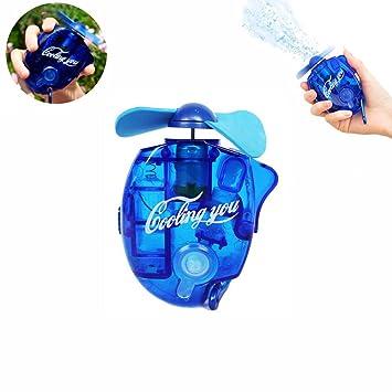 Szjsl Ventilador de chorro de agua Mini ventilador de aire acondicionado manual Pocket Spray Mist Botella
