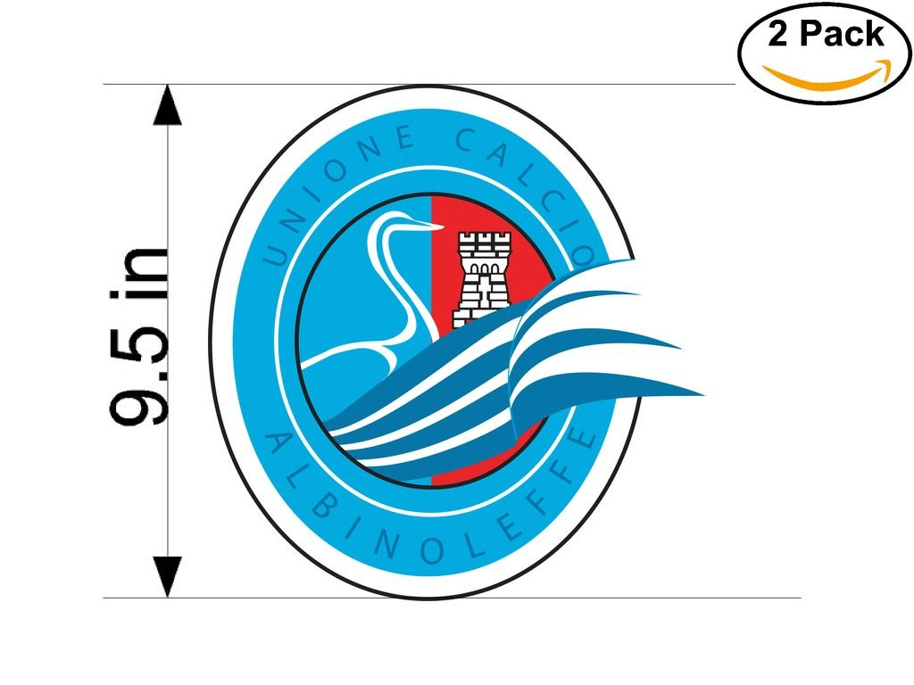 Unione Calcio Albinoleffe Italy Soccer Football Club FC 2 Stickers Car Bumper Window Sticker Decal Huge 9.5 inches