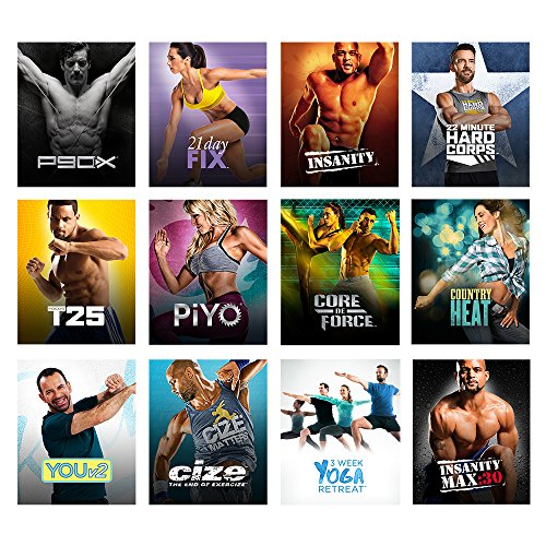 Beachbody on Demand 6 Month Membership - Stream hundreds of workouts  including 80 Day Obsession, P90X, 3 Week Yoga Reteat, 21 Day Fix, INSANITY,  PiYO