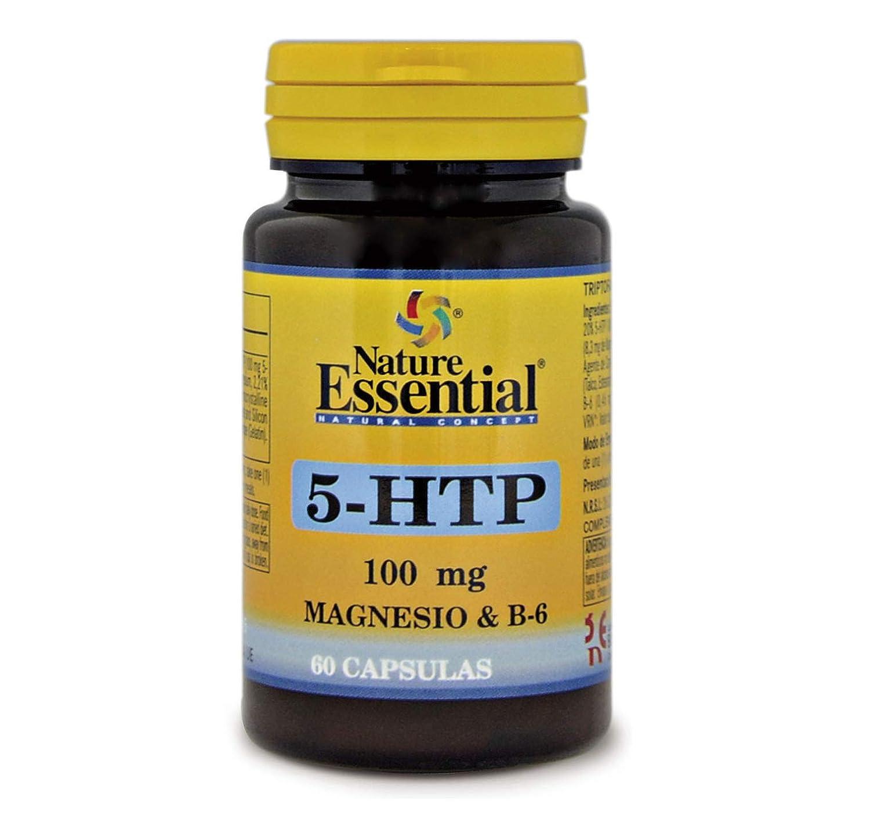 Triptófano (5-htp 100 mg.) 60 cápsulas con magnesio y vitamina B-6 ...