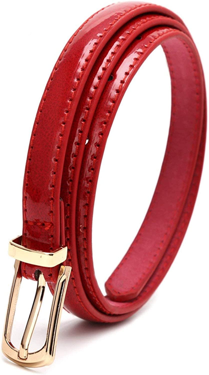 KEBINAI Metal Buckle Thin Belt For Women Leather Belt Female Straps Waistband For Apparel Accessories