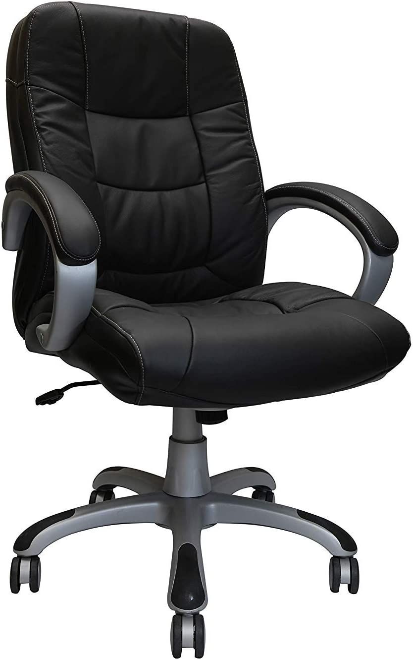 OCC Nicer Furniture Executive Middle Back Chair Real Leather