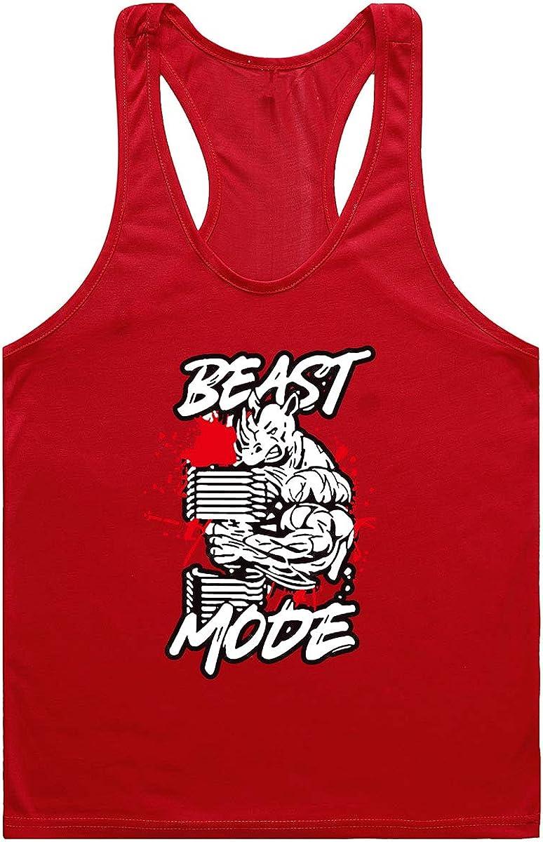 Cabeen Camisetas para Hombre sin Mangas De Fitness Tirantes Culturismo Tank Top Chaleco