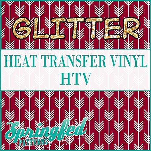 GLITTER Arrows Pattern #1 in Maroon & White Glitter Heat Transfer Vinyl 12