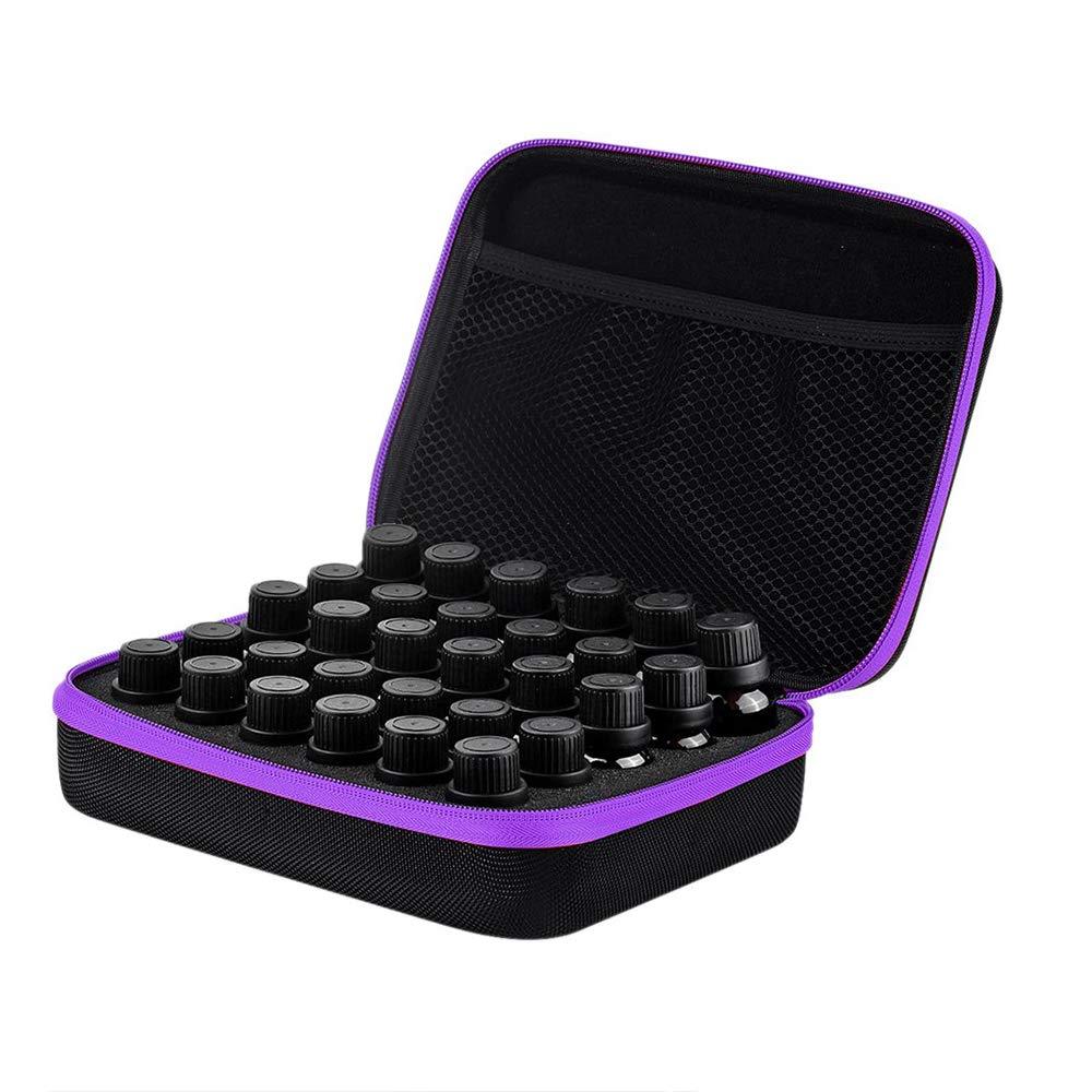 caja port/átil de aceite esencial con 30 ranuras con capacidad para botellas de aceite esencial de 15 ml Caja de almacenamiento de aceite esencial
