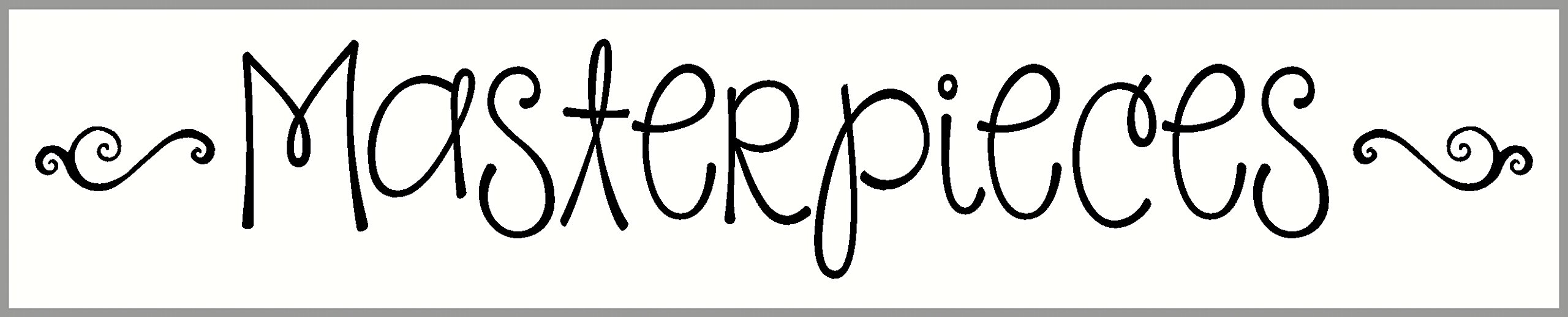 Wall Decor Plus More WDPM3161 Sticker Lettering Masterpieces for Kids Artwork Display area, 36-Inch x 6-Inch, Black by Wall Decor Plus More (Image #2)