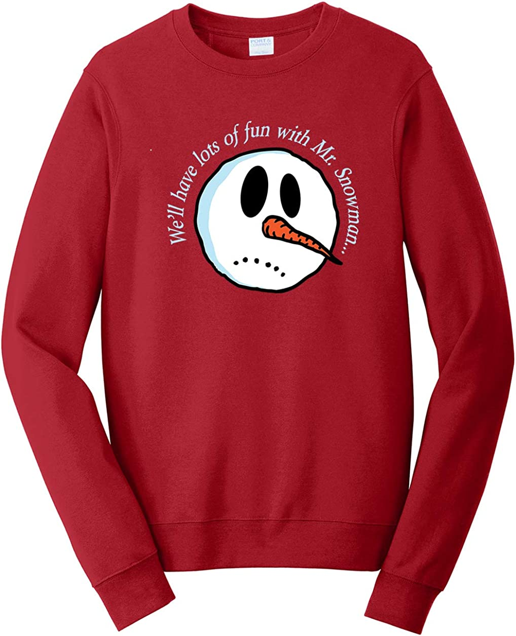Snowman Sweatshirt Tenacitee Unisex Lots of Fun with Mr