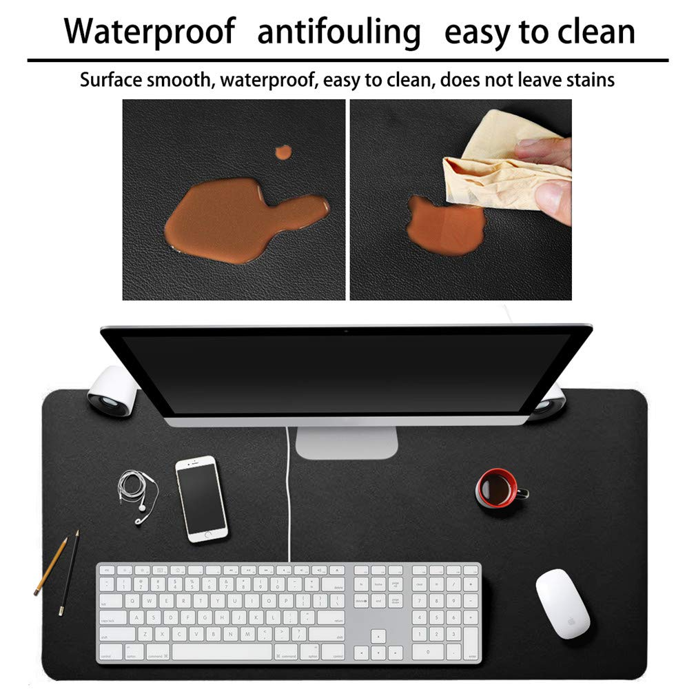 Large Desk Pad Office PU Leather Non-Slip Waterproof Computer Gaming Mouse Mat