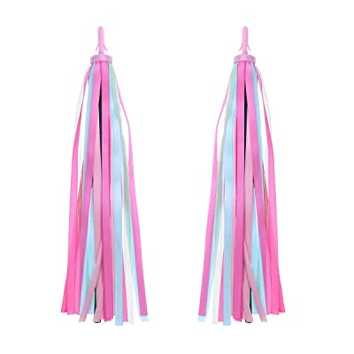VORCOOL One Pair of Kids Bicycle Tassel Ribbo Bike Handlebar Streamers Baby Carrier Accessories(Pink) : Sports & Outdoors