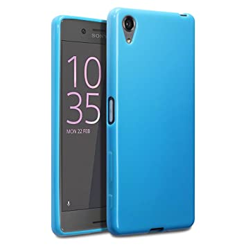 separation shoes 71800 dfd91 TERRAPIN, Compatible with Sony Xperia X Case, TPU Gel Cover - Solid Blue