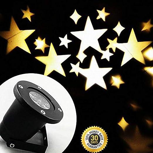 HSJLH Lámpara de LED proyector de Estrellas, Resistente al Agua ...