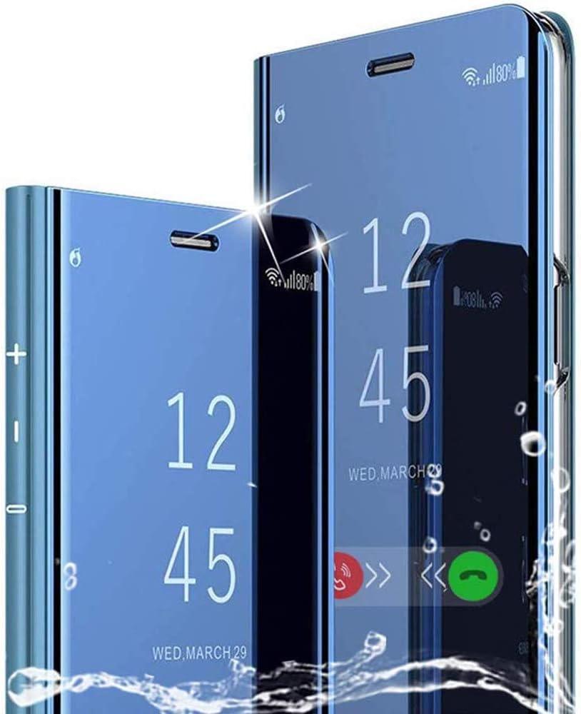 WINMI Para Xiaomi Mi Note 10 Lite Funda,Transl/úcido Elegante 360 /°Complete Protection Espejo Brillante Standing Mirror Flip Funda para Xiaomi Mi Note 10 Lite-P/úrpura