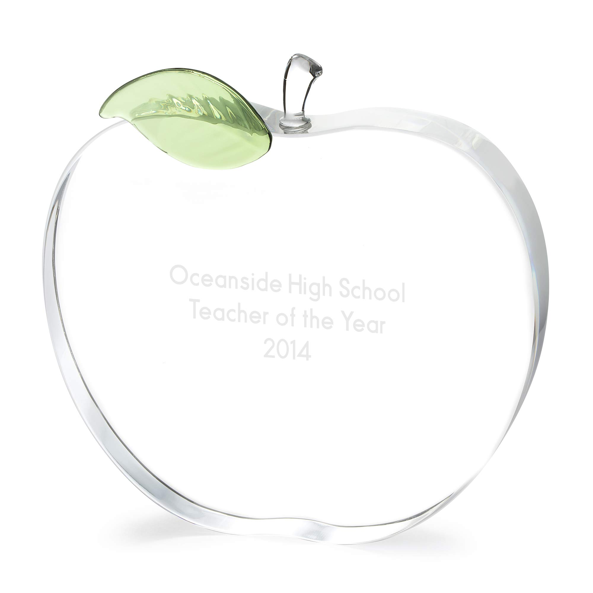 Things Remembered Personalized Crystal Apple Award with Engraving Included