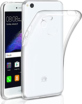 Funda Huawei P8 lite 2017 , Leathlux Trasparente Suave Silicona ...