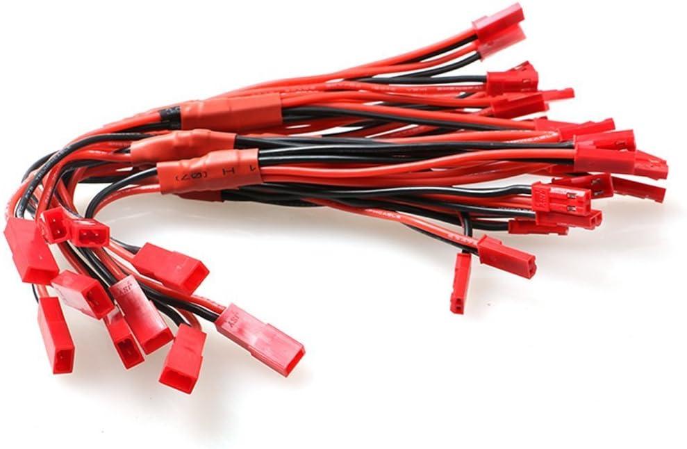 10/pi/èces JST r/épartiteur avec 18/cm M/ène connecteur 1/femelle vers 3/connecteur m/âle Rcy Plug c/âble