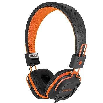 NGS Gumdrop - Auriculares de diadema cerrados, color negro y naranja: Amazon.es: Electrónica