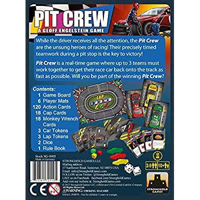 Stronghold Games Pit Crew Board Game: Toys & Games