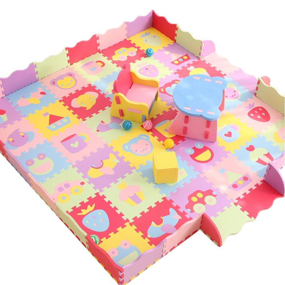 N 30pcs HLMIN Tapis Enfant Tapis Puzzle en Mousse (Couleur   O, Taille   24pcs)
