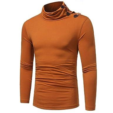 Herren Hoher Kragen Langarmshirt Sexy Sport Hemd Casual Oberteil Bluse  Kleidung Herbst Winter Mode Slim Fit ed302b909c