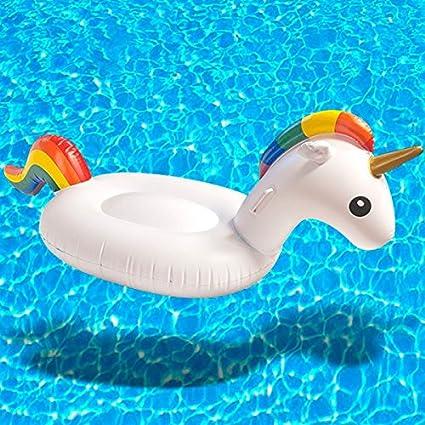 Flotador Hinchable unicornio para piscina – Flotador Anillo Juego hinchable