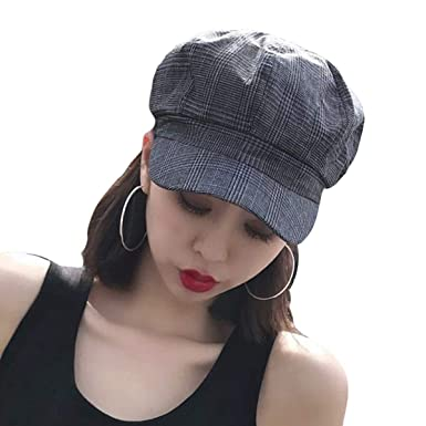 33f85f60110bd Women Newsboy Cap Ladies Autumn Baker Boy Cap Beret Hats for Women Black