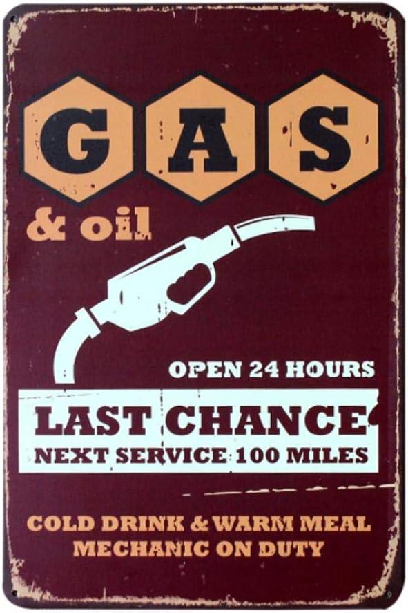 yycsqy Affiches Murales en M/étal Vintage Hot Gas Station Vintage Signes en M/étal D/écor /À La Maison Vintage en /Étain Signes Pub Vintage Plaques D/écoratives en M/étal Mur