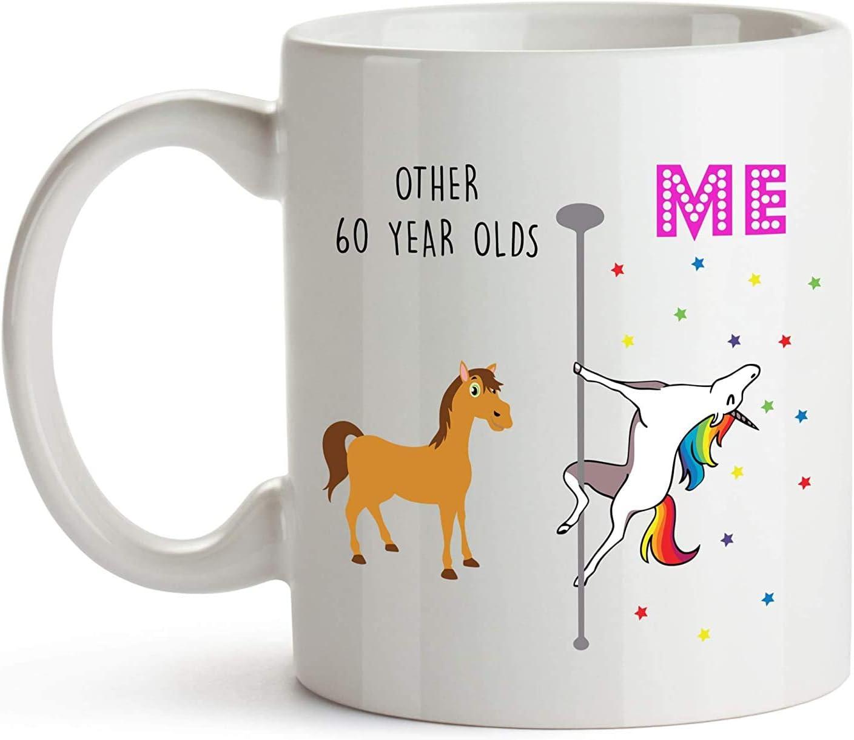 11 oz Coffee Mug, Tea Cup, 60th Birthday Coffee Mug, White, Mom 60th Birthday Gifts for Women