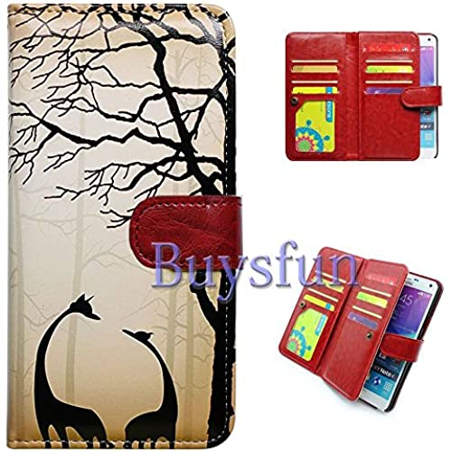 Bfun Packing Bcov Black Giraffe Multifunction 9 Card Slots Purse Leather Cover Case For Samsung Galaxy S7 Edge Sales
