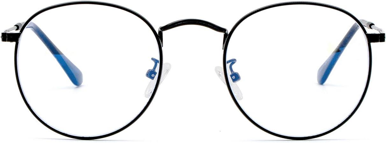 Blue Light Glasses for Women//Men,Retro Round Anti Eye Eyestrain Glasses,Blue Light Blocking Glasses Computer Gaming//TV//Phones Non Prescription 2020 New Blue Frame/&Black