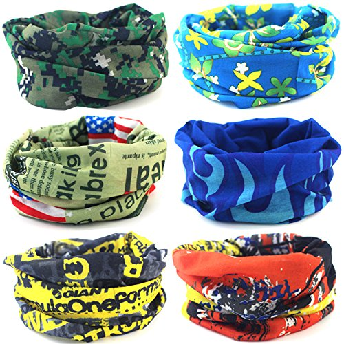 carf Multi-purpose Seamless Headwear Bandanas High Elastic Headband with UV Resistance (Multi Dose Tube)