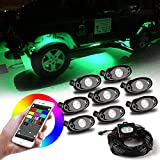 Kyпить Wayrank LED Rock Light Kits 2nd Gen with 8 Pods RGB Lights for Car Jeep Off Road Truck ATV SUV Boat Underbody Glow Trail Rig Lamp Waterproof на Amazon.com