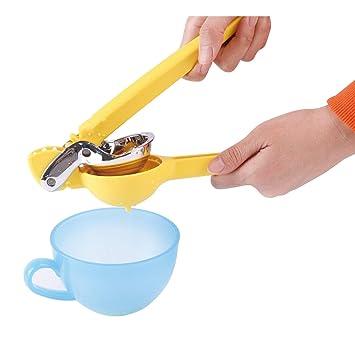 Manual exprimidor de limones premium calidad Manual mano prensa de acero inoxidable exprimidor con mango resistente: Amazon.es: Hogar