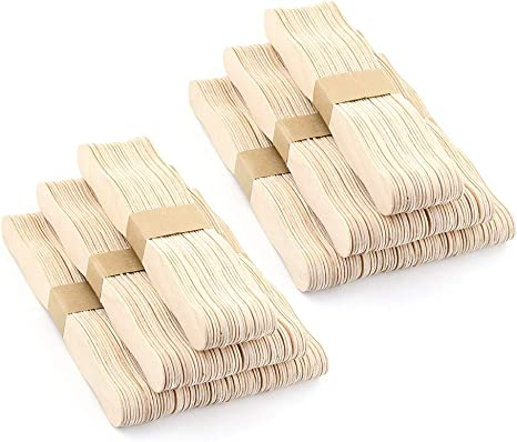 8 Inches Jumbo Wood Wavy Craft Sticks Popsicle Sticks Fan Handles Wedding Fan Sticks 50 Pack