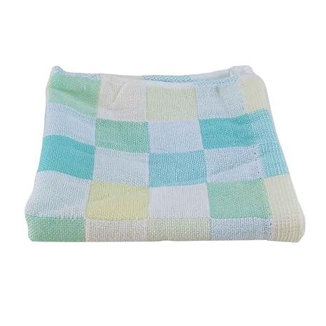 28 * 28 cm cuadrados toallas de algodón de gasa tela escocesa de toallas baberos para