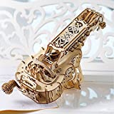 UGears Hurdy-Gurdy Mechanical 3D Puzzle - Wooden Musical Model - Adult Craft Set for Self-Assembly