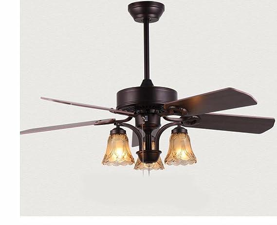 Lighsch ventilatori da soffitto con lampada camera da letto il led